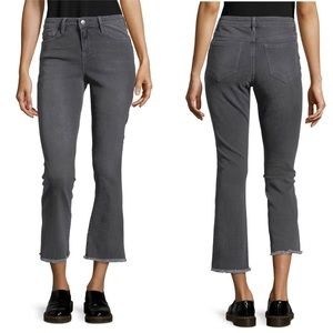 Free People Straight Cropped Raw Hem Jeans 24